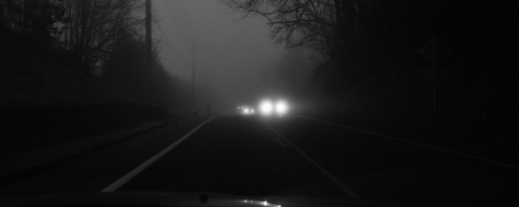 Commuting by car in darknes